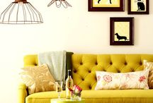The Orchard: They Call it Mellow Yellow: Shabby Chic Vintage / Yellow Interiors - Bringing sunshine into your home