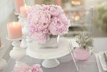 テーブルコーディネート ピンク