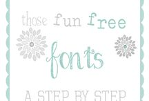 Fun Fonts / by Stephanie Jernigan