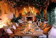 Al Fresco Dining / In my country, we live outside our homes. We spend lots of time around a family dinner table enjoying freshly prepared meats, salads, veggies and bakes. Could be a Sunday lunch or a Saturday afternoon braai. All done in good spirit!