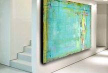 Abstrakte malerier turkis