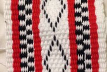 Telar Mapuche rojo negro