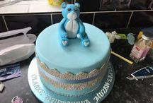 Baby Dedication Chocolate  Cake by VivOla Cakes / Various baby Dedication cakes