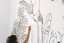 mural (plants outline)