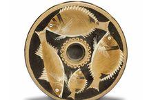 Greek fish plates / Greek fish plate - Sicilian vase - Apulian fish plate