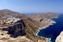 Folegandros island, Greece / Folegandros is a small Greek island in the Aegean Sea which, together with Sikinos, Ios, Anafi and Santorini, forms the southern part of the Cyclades. It has three small villages, Chora, Karavostasis, and Ano Meria, which are connected by a paved road. Folegandros is part of the Thira regional unit.