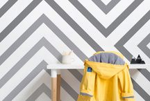 Dazzle Camo Wallpaper / A razzle-dazzle inspired board, full of home decor ideas and tips on how to style your home everything Dazzle Camo, with Murals Wallpaper's new collection of Geometric Dazzle Wallpaper.