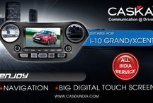 Caska India suitable for Hyundai / Best selling all in one GPS Navigation system in INDIA at best prices. Features Touchscreen, Audio, Video, Music player. Add on Rear camera and tyre pressure monitoring System for Hyundai Grand i 10.