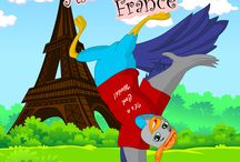 Alooks Dance In France / This is a rhyming children's story book about a bird called Alook.  He travels around the world, going on new adventures.  This specific journey is about wanting to street dance in France.