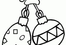 Christmas ornaments coloring pages and sheets / This page has lots of free Christmas ornaments coloring pages for kids,parents and teachers.