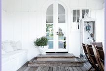 Just white / I love black clothes but I love white furniture for my home with few touch of colours...