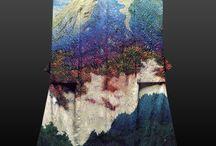 landscape on fabrics
