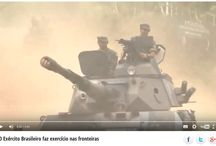 O Exército Brasileiro faz exercício nas fronteiras
