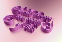 3D Typo / Alphabet & typography