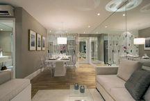 Espelhos / Ambientes mais iluminados e amplos com a utilização do espelho.