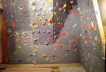 bouldering wall
