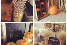 fall themed bday party