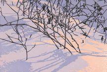 William Hays / Linocut print artist of Brattleboro, Vermont.