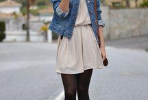 vestidos con medias negras