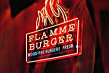 Flamme Burger / Fresh Casual Dining, Flamme grilled burgers.