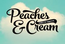 Peaches & Cream Typeface & lettering / Peaches & Cream Typeface by Fenotype, typography, lettering