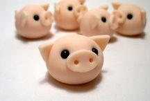 Fimo little pigs