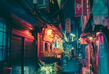 Street.Light.Color.Japan.Beauty . Apartments.