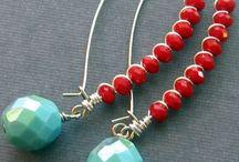 Orecchini perle e filo metallo / Un pezzo