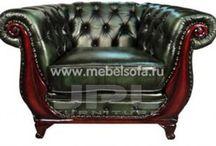 кожа кресло-диван