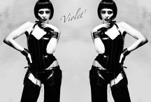 Violet / A collection of Erotic Silk wear & Leather Body Jewellery
