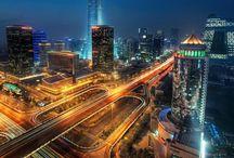 városi fények
