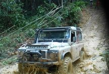 Off Road Driving! / An off-road vehicle is considered to be any type of vehicle which is capable of driving on and off paved or gravel surface. It is generally characterized by having large tires with deep, open treads, a flexible suspension, or even caterpillar tracks
