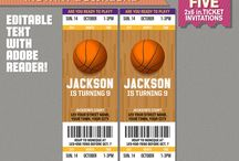 NBA Teams Ticket Invitations / Make your son´s party the perfect birthday with this NBA Teams Ticket Invitations