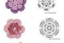 crochet kvety
