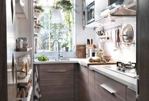 Tiny narrow kitchen