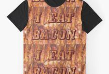 ! Amazing Bacon Gifts / My bacon gifts on Zazzle, RedBubble, and some Amazon. Here is the Zazzle link to some yummy bacon from http://www.zazzle.com/timsmansmall?rf=238349211073509034 and http://www.zazzle.com/sandyspider/bacon?rf=238857335784557366