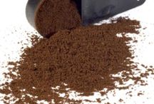 Coffee grounds / Sprinkle ground coffee over vegetables in the garden