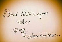 BİRİ ÇAY'MI DEDİ