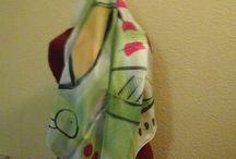 pañuelos de seda pintados a mano por Silvia Rais