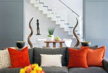 Family Room with a Pop of Color