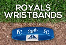 Kansas City Royals MLB Wristbands and Fan Gear / Shop for Kansas City Royals MLB wristbands and fan gear. Find your teams MLB bracelets and gear at Skootz! http://www.skootz.com/