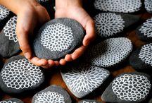 pintura sobre piedras