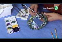 Pintando vidros, canecas e pratos