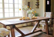 Eetkamer tafel / Inspirasie vir die nuwe tafel wat gemaak moet word