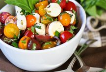 Gluten free salads (veggie,fruit, sides and entrees) and slaws / by Lisa Fox