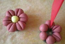 Lente bloemen marsepein