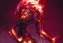 AB: Elementals, Fire / Development board for fire elementals. Messengers = beam riders