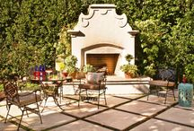 Fresh Air and Outdoor Fireplaces / Amp up your backyard and anchor your outdoor living room with a fireplace! Bring heat to a cold day or gather around a crackling fire with good friends, close family and a pack of s'mores and some wine for a relaxing night in your backyard. Outdoor fireplaces are a luxurious addition to your home's aesthetic; here are some tips on how to incorporate a fireplace into your backyard.