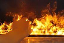 Water Vapor Fireplace - 3D Fireplace / Insert & water vapor fireplace, 3D fireplace. Have you ever seen water burn?