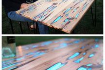 świecące drewno